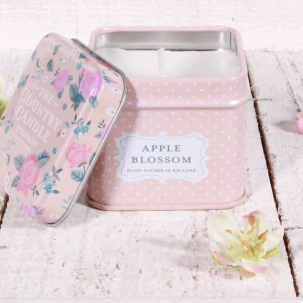Apple Blossom Tin Candle - part of Cordelia's 'best scented candles UK' range - Cordelia's House of Treasures