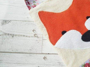 Applique handmade fox felt tote - Childrens accessories