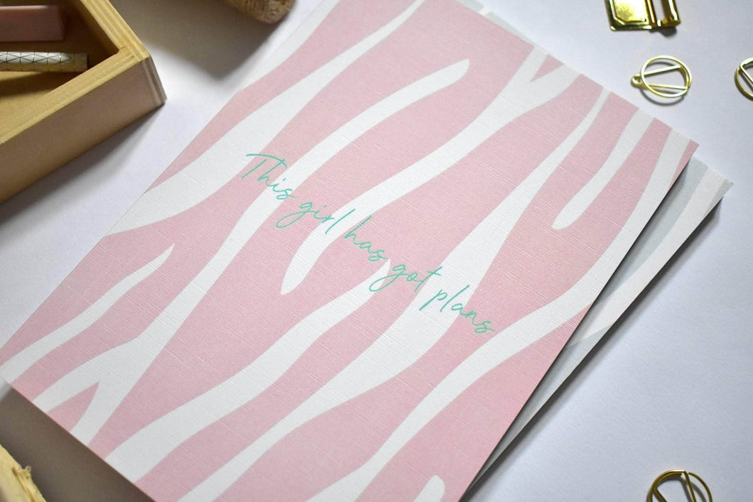 The girl got plans zebra notebook - Cordelia's House of Treasures