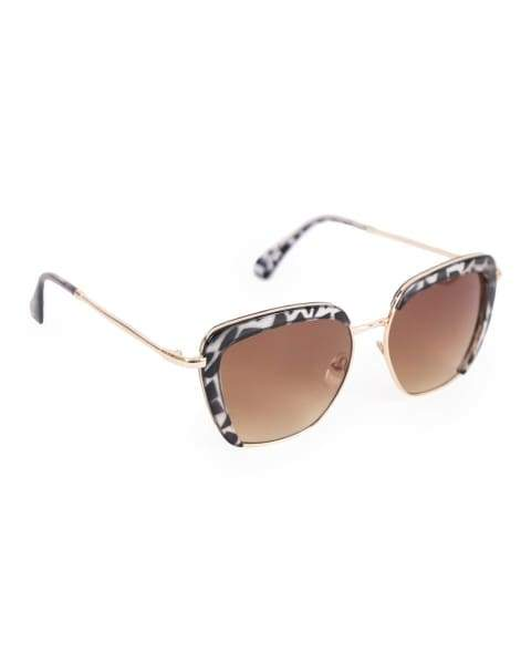 Bardot black and white tortoise shell sunglasses  Powder - Cordelia's House of Treasures