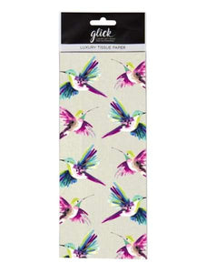 Beautiful Humming bird Tissue paper to accompany the gift Bag - Gift Wrapping