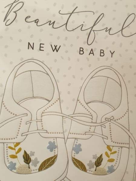 Beautiful new baby card - stationery group four
