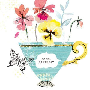 Beautiful pansy birthday card - Cordelia's House of Treasures