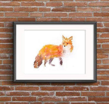 Beautiful Print ideas for him created by a British Artist - fox full - gift for him