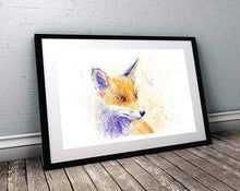 Beautiful Print ideas for him created by a British Artist - fox head - gift for him