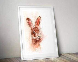 Beautiful Print ideas for him created by a British Artist - hare - gift for him