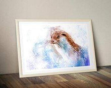 Beautiful Print ideas for him created by a British Artist - otter - gift for him