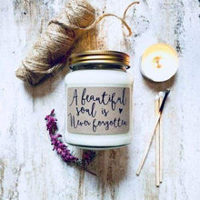 Beautiful soy wax candle jars with a special message - Cordelia's House of Treasures