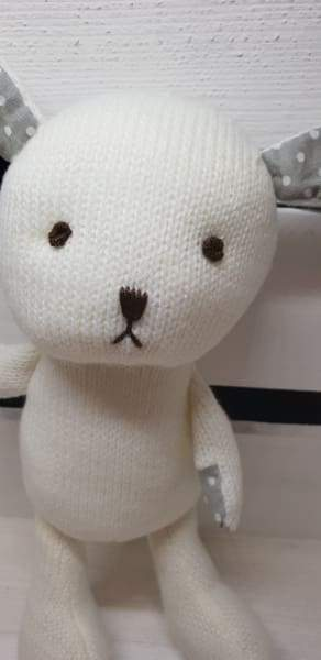 Beautiful woollen soft toy bunny, for small children - Cordelia's House of Treasures
