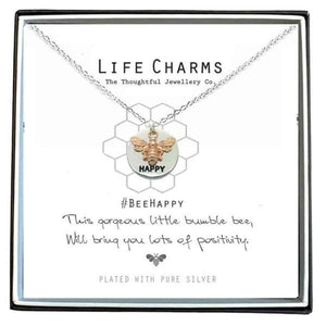Bee Happy Necklace - Cordelia's House of Treasures