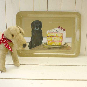 Black Labrador Melamine Tray - the little dog laughed