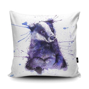 Blue Badger Cushion- Katherine Williams - Cordelia's House of Treasures