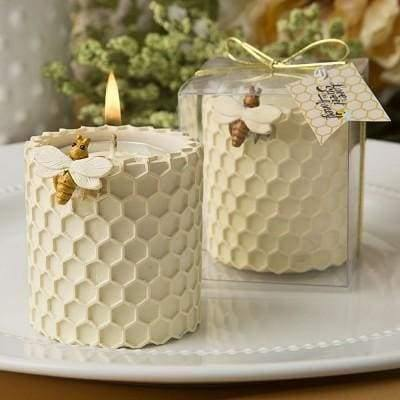Candle Wedding Favor- Honey Comb Design Tealight Candle Holder - Cordelia's House of Treasures