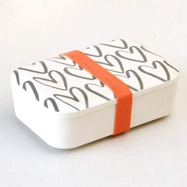Caroline Gardner Outline heart bamboo lunchbox - Cordelia's House of Treasures