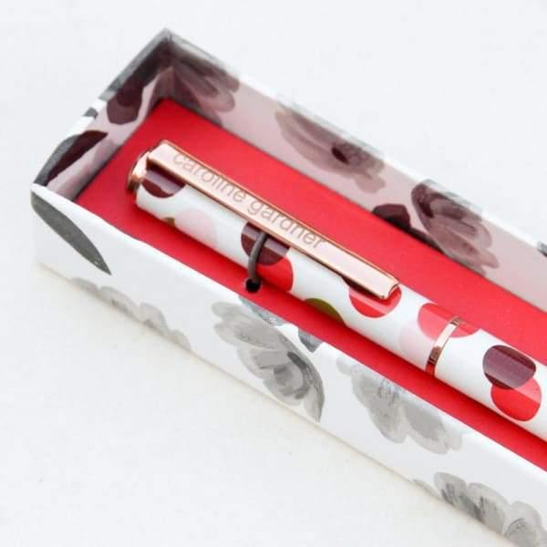 Caroline Gardner spotty boxed pen - Cordelia's House of Treasures
