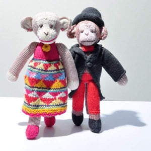 Chunki Chilli - Hand Knitted Bohemian Monkey in Organic Cotton - Cordelia's House of Treasures