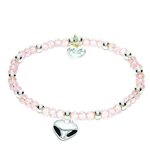 Cotes D'Azur Crystal Bracelet - Light Rose & Silver - Cordelia's House of Treasures