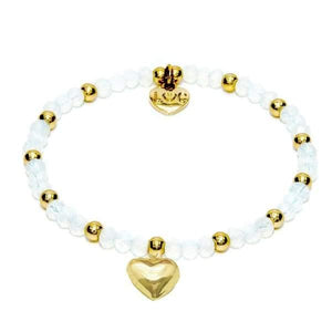 Cotes D'Azur Crystal Bracelet - White Opal & Gold - Cordelia's House of Treasures