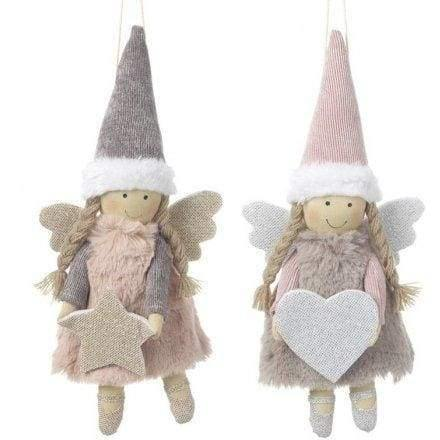 Cute fabric angels in silver or pink. - Cordelia's House of Treasures