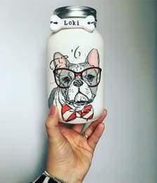 Cute French Bulldog Mason Jar - Cordelia's House of Treasures