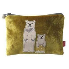 Dad and son polar bear velvet coin purse by lua - Cordelia's House of Treasures