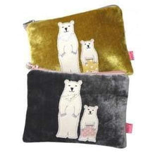 Dad and son polar bear velvet coin purse by lua - women group one
