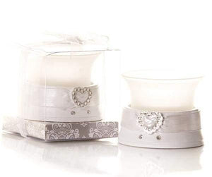 Diamante Heart Shaped Tealight Candle Holder - Cordelia's House of Treasures