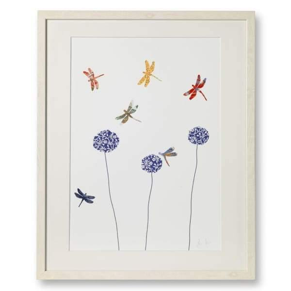 Dragonflies and Aliums Art Print from Cordelias gift shop - Eloise hall gift home
