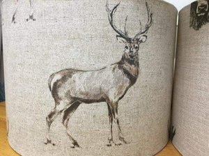 Drum lampshade with varied animals including Pheasant, Hare, Stag etc - Cordelia's House of Treasures
