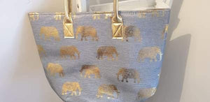 Fabulous elephant trail tote bag - summer time