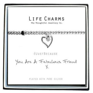 Fabulous Friend charm Bracelet - Cordelia's House of Treasures