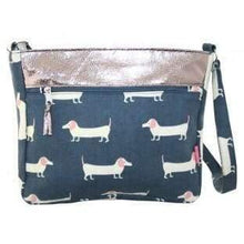Foil effect and patterned bags. Lua - daschund - women