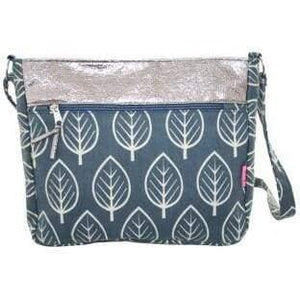 Foil effect and patterned bags. Lua - leaf - women