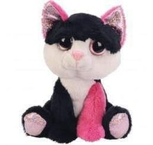 Funky black and pink cat teddy - children