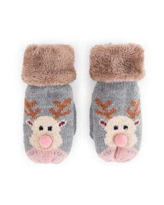 Gorgeous Reindeer Kidss Gloves From Powder - Childrens accessories. group one