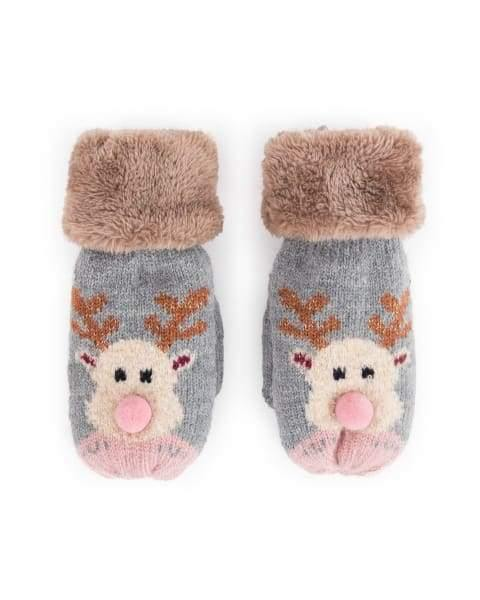 Gorgeous Reindeer Kids's Gloves From Powder - Cordelia's House of Treasures