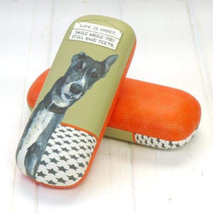 Greyhound Glasses Case Smile - Its a good sign