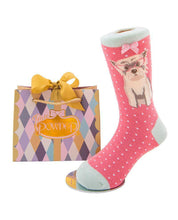 Westie Sock pink for little girls age 2-4
