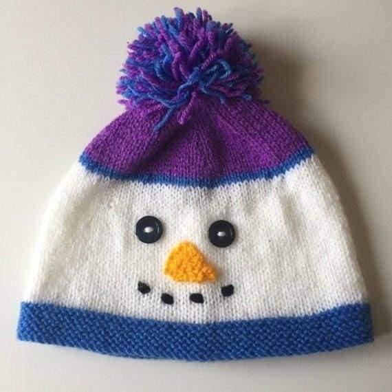 Handmade knitted hat and scarf. Snowman - Cordelia's House of Treasures