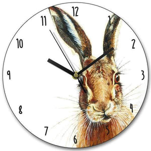 Hare Wooden Clock - home