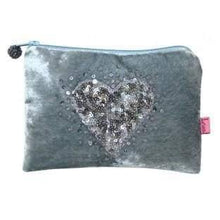 Heart design Lua coin purses - pale blue - women