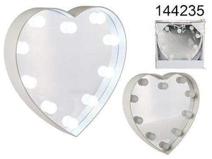 Heart Shape Mirror With LED Lights 23cm - Cordelia's House of Treasures