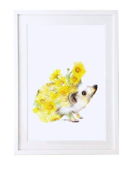 Hedgehog print-picture from Cordelias gift shop - Cordelia's House of Treasures