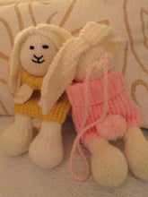 Knitted novelty childrens bags - bunny. - Childrens accessories