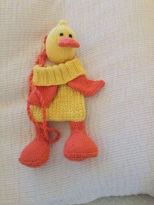 Knitted novelty childrens bags - duck - Childrens accessories