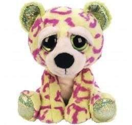 Lime green and pink leopard teddy bear - children