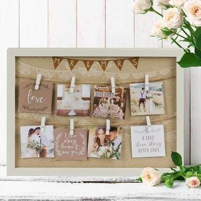 Love Story Peg Collage Frame - Mr & Mrs - Cordelia's House of Treasures