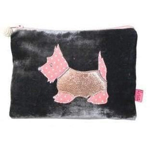 Lua Applique Velvet Cosmetic Purse - Cordelia's House of Treasures