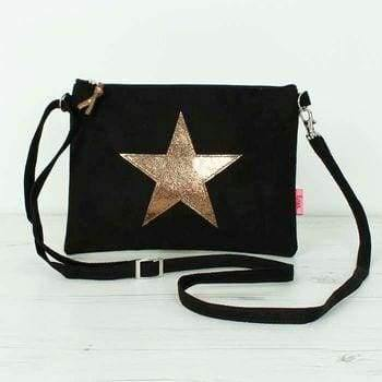 Lua, Star Mini Bag Black and Bronze - Cordelia's House of Treasures