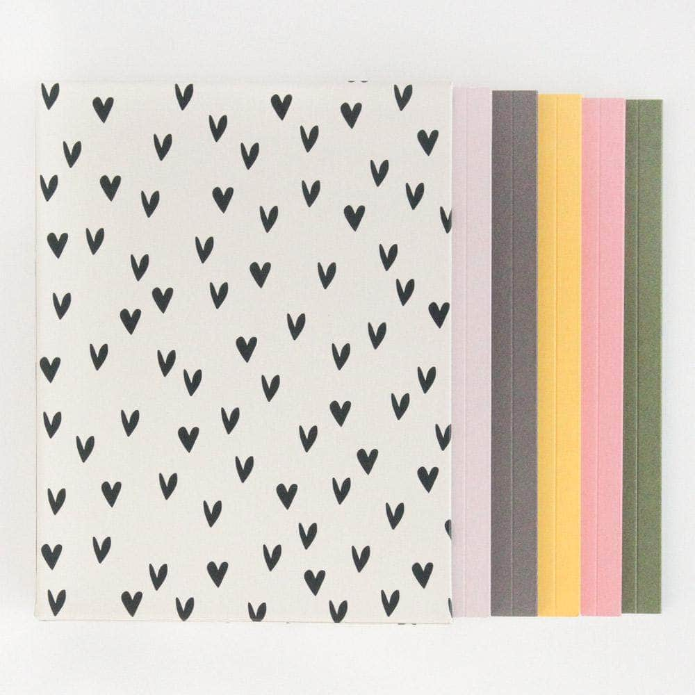 Caroline Gardner mini hearts box of 5 note books - Cordelia's House of Treasures